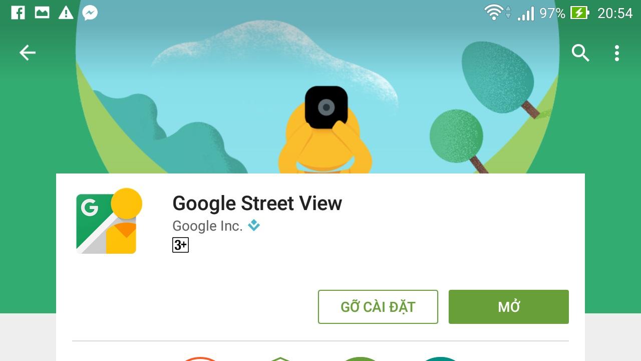 Cập nhật Google Street View cho Android