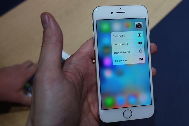 Công nghệ 3D Touch trên iPhone 6S