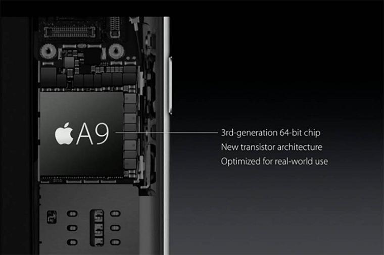 Con chíp A9 mới mạnh mẽ hơn trên iPhone 6S