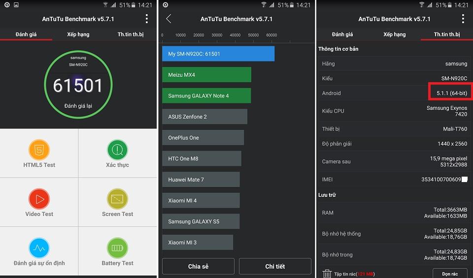 Thông số phần cứng Samsung Galaxy Note 5