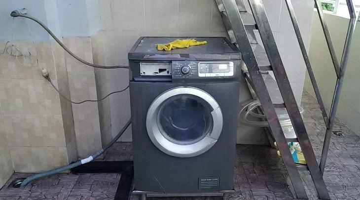 Vị trí đặt máy giặt không bằng phẳng