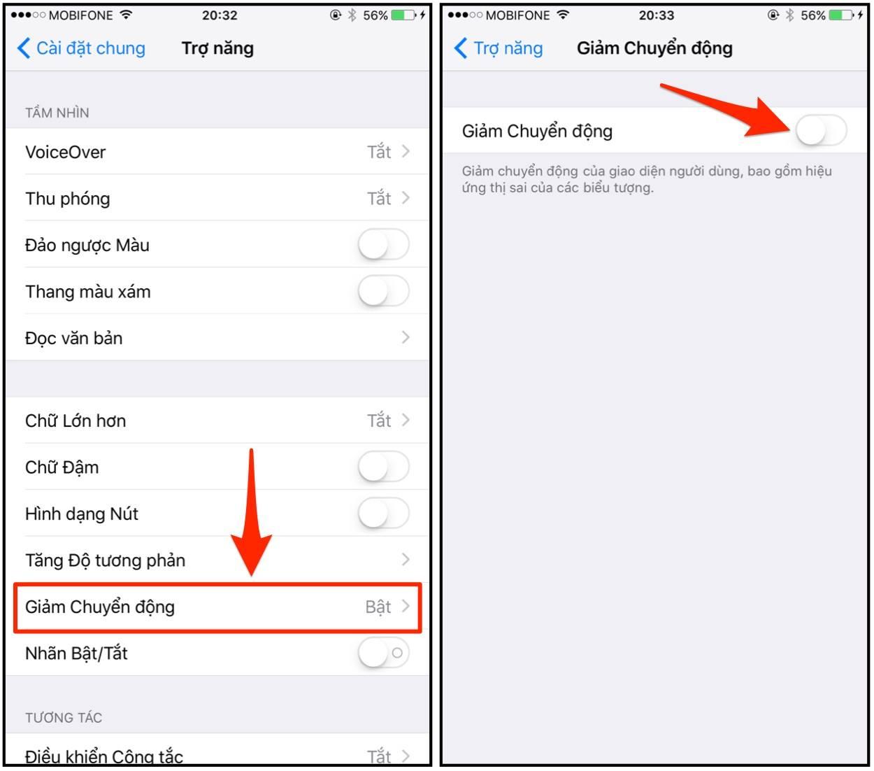 Cách tăng hiệu năng iOS 9 iPhone đời cũ bước 2