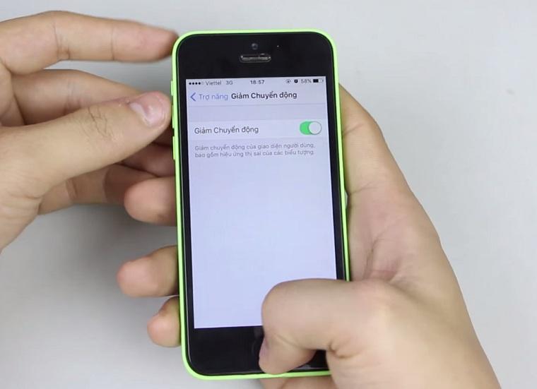 Giảm chuyển động trên iPhone