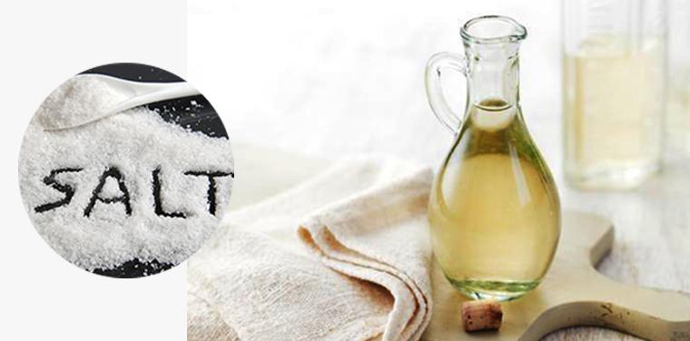 Hỗn hợp giấm và muối sẽ giúp quần áo trắng sạch như ban đầu