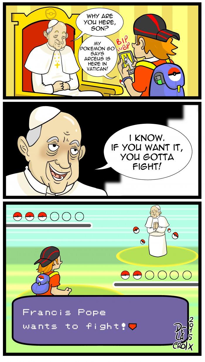 Cả Giáo hoàng cũng tham gia trò chơi này