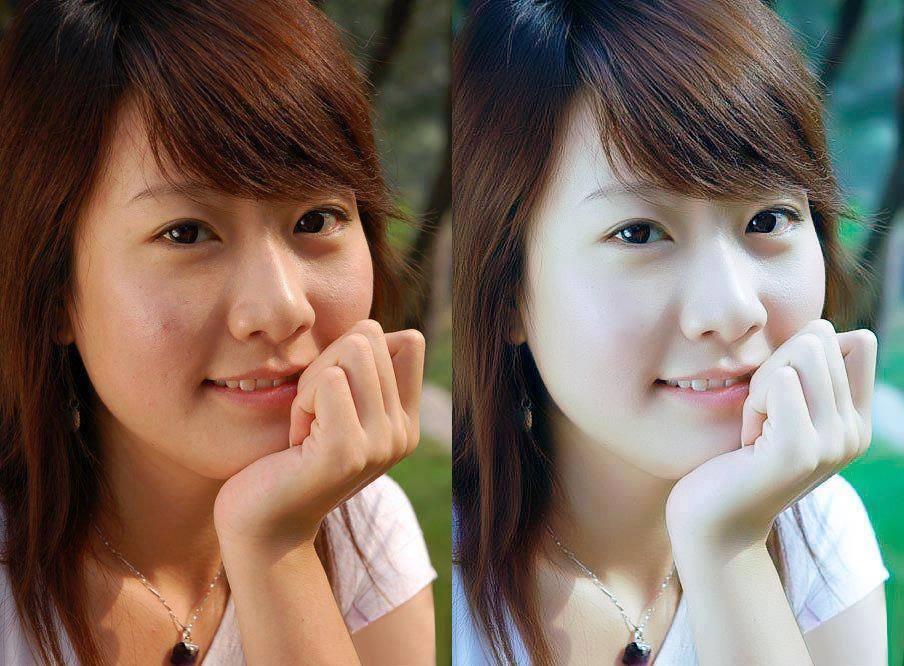 Trước và sau khi dùng Camera360