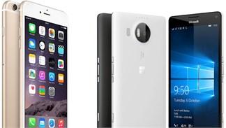 Đọ cấu hình Lumia 950 XL, iPhone 6s Plus và Galaxy Note 5