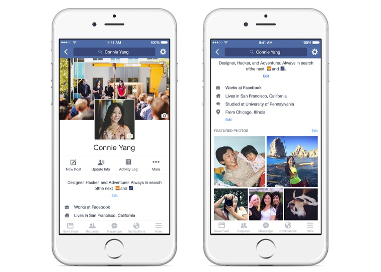 Giao diện facebook mới