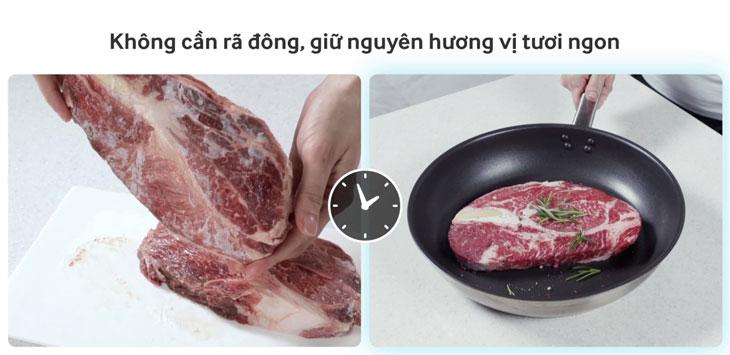 Nấu ăn ngay mà không cần rã đông