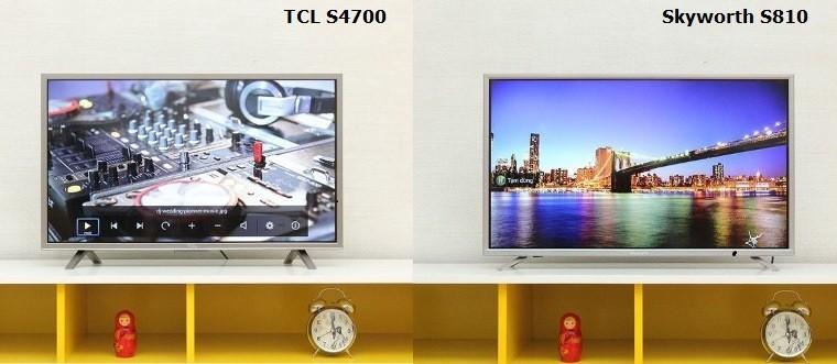 TCL và Skyworth có nhiều điểm tương đồng trong phong cách thiết kế