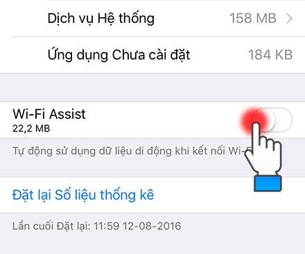 tắt wifi assist