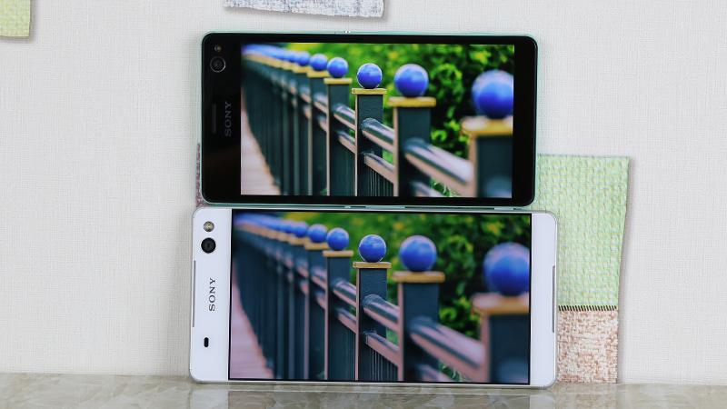 So sánh màn hình Sony Xperia C4 và Sony Xperia C5