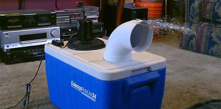 Máy lạnh tự làm sau khi hoàn thành