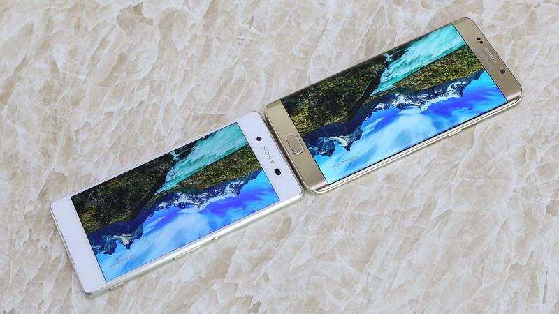 So sánh thiết kế Samsung Galaxy S6 Edge Plus và Sony Xperia Z3 Plus