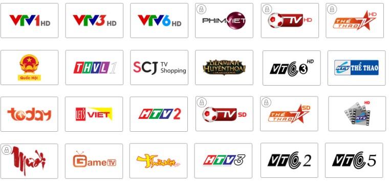 Tivi có những kênh truyền hình phổ biến với người dùng