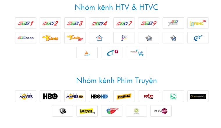 Nhiều nhóm kênh đặc sắc