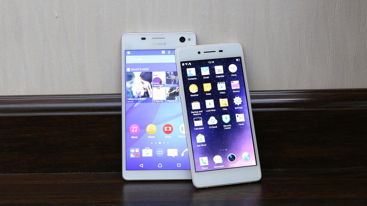 Màn hình Sony C4 Dual và Oppo R7 Lite