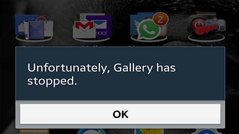 Huớng dẫn khắc phục lỗi 'rất tiếc, ứng dụng đã dừng lại'