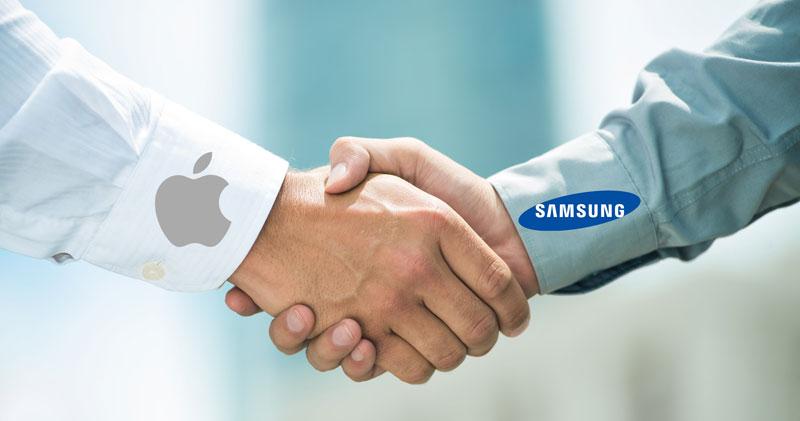 Apple Samsung bắt tay hợp tác