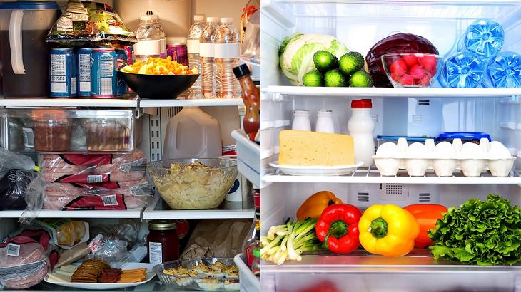 Sắp xếp và bảo quản thực phẩm trong tủ lạnh đúng cách, khoa học