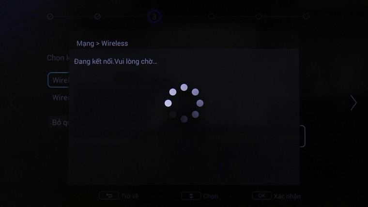 Tivi đang kết nối mạng
