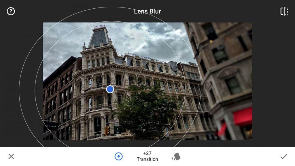 Kết quả hình ảnh cho snapseed lens blur