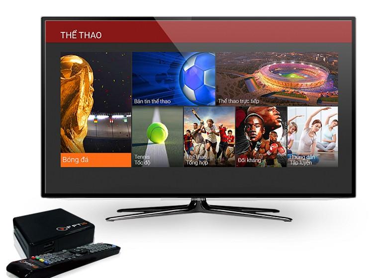 Bộ đầu thu HD box và remote của FPT Play HD