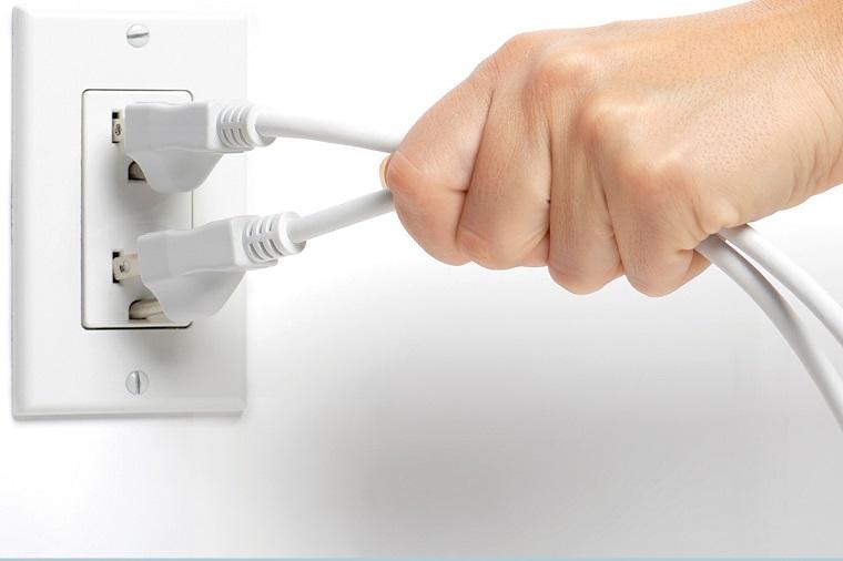 Ngắt điện kịp thời nếu phát hiện xảy ra sự cố