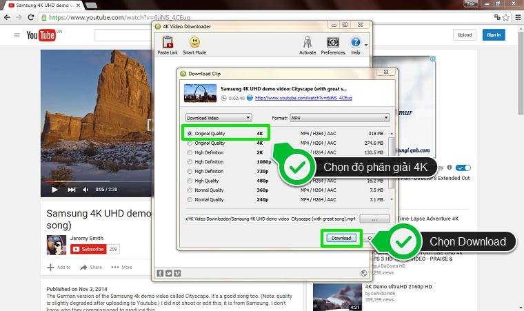 Cách tải video 4K từ YouTube cho tivi 4K đơn giản và nhanh chóng