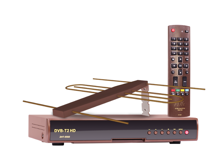 Bộ đầu thu, ăng-ten, remote của An Viên