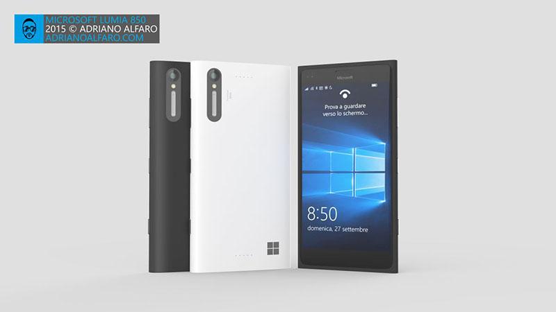 Mẫu thiết kế Lumia 850 của Adriano Alfaro