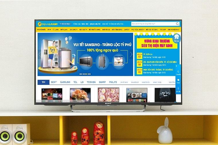 Dùng trình duyệt web để đọc báo trên tivi