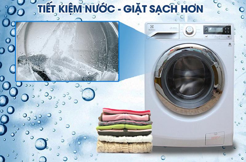 Máy giặt lồng ngang sẽ giúp tiết kiệm nước cho gia đình