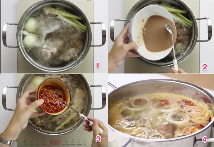 Cách nấu bún bò huế ngon tại nhà