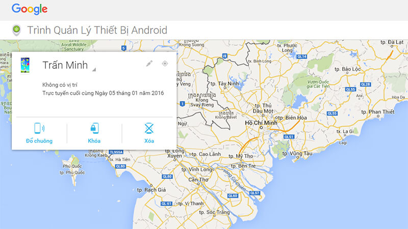 Tận dụng Android Device Manager