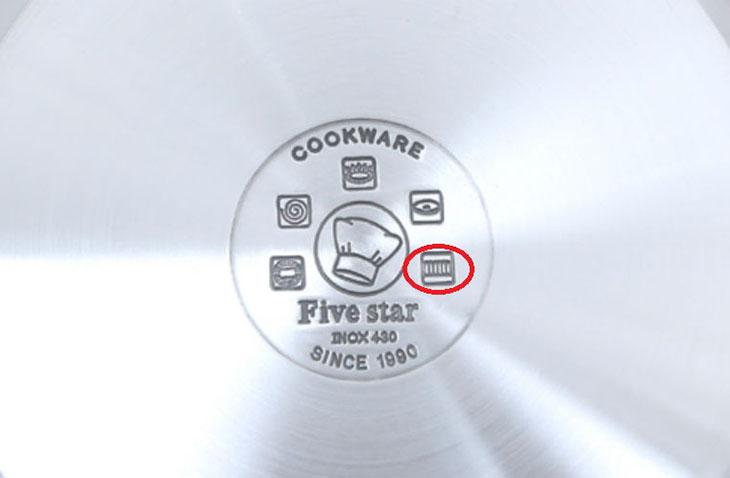 Xem dấu hiệu induction trên tem nồi chảo