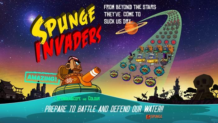 Spunge Invader - trò chơi Shoot 'Em Up phong cách retro cá tính