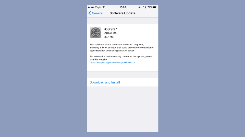 iOS 9.2.1 đã có, mời các bạn cập nhật