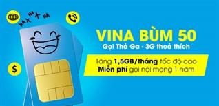 SIM Vina Bùm 50 - Gọi thả ga, 3G thỏa thích