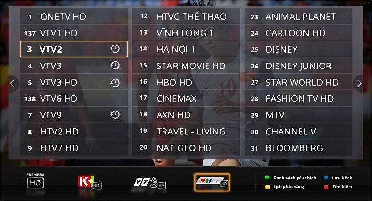 Một số chương trình sẽ được tua lại trên dịch vụ truyền hình FPT Play HD