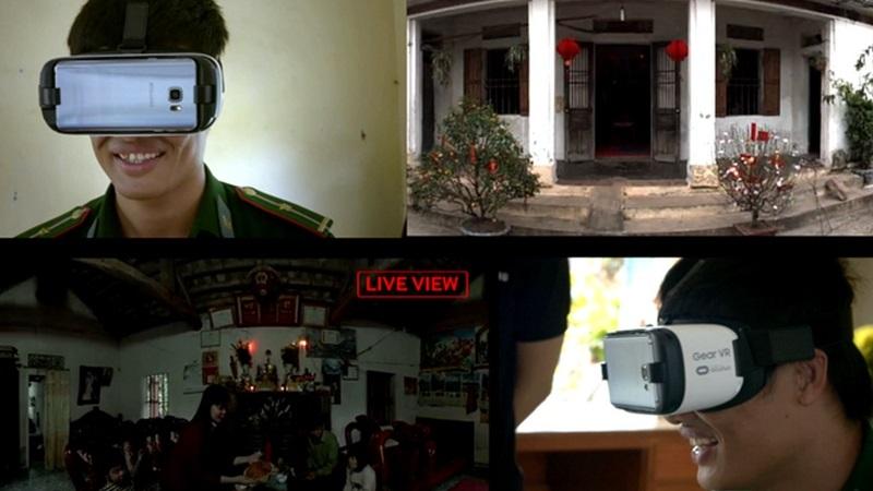Nhờ kính thực tế ảo, lính đảo đoàn viên với gia đình ở quê