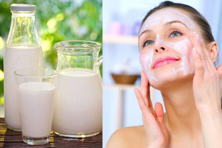 Uống và rửa mặt với sữa tươi