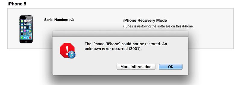 Tổng hợp các lỗi thường gặp khi Restore thiết bị iOS và cách khắc phục - 110895