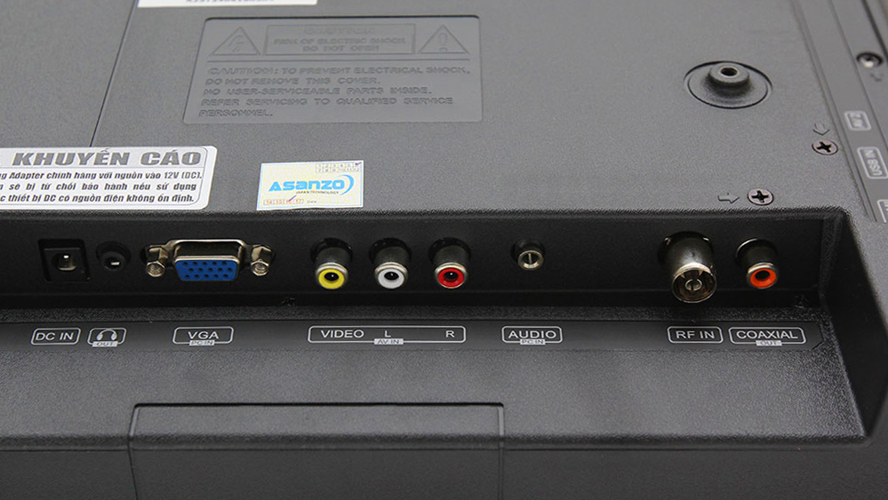 Tivi LED thường có nhiều cổng kết nối