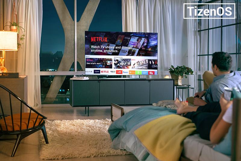 Gioe diện hệ điều hành Tizen OS trên tivi Samsung