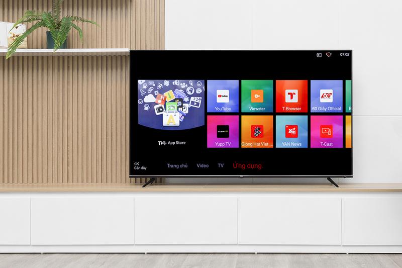 Giao diện hệ điều hành TV+OS cơ bản trên tivi TCL