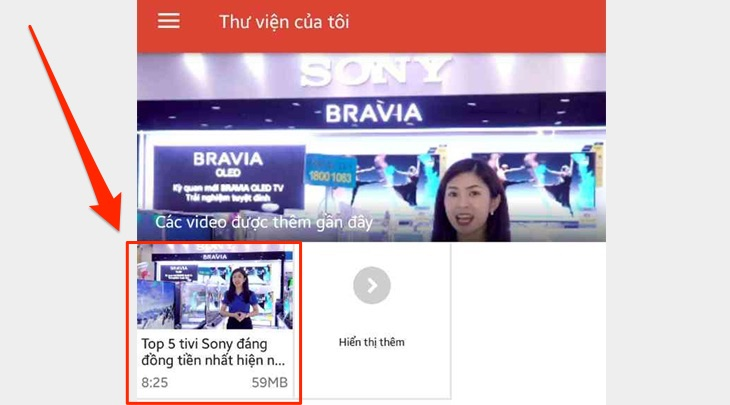 Chiếu video từ điện thoại lên tivi
