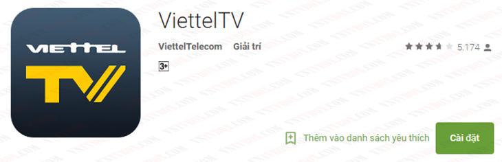 Tải ứng dụng Viettek TV