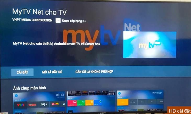 Nhấn vào biểu tượng MyTV