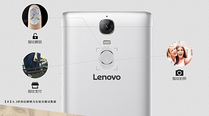 Lenovo K5 Note được tích hợp cảm biến vân tay phía sau máy